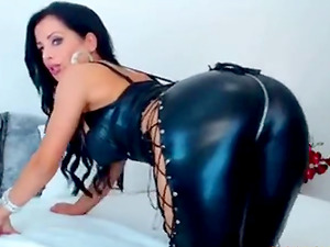 Hot Ass Girlfriend Teases In  Sexy Catsuit