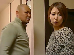 Japanese wifey gets hotly fucked in standing position