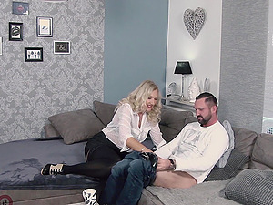 Dirty German MILF fucks a  man