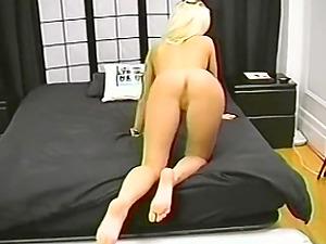 Hot blonde amateur sucks my uncut cock