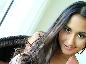 Jeannie Santiago is a lovely Latina honey with some hot shapes