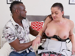 Mature busty MILF Leia Organa ravaged by a big black cock