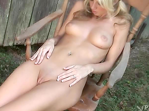 Horny blondie Stephanie Jean  gets so fucking hot