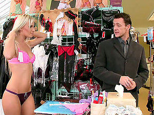 Gorgeous blonde Bea Stiel gets beautifully fucked in a shop