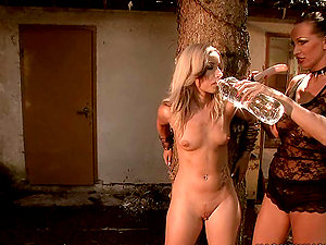Candy gets her beaver frigged and toyed by hot mistress Mandy Bright