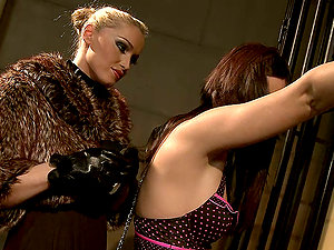 Sexy prisoner Ginna gets tantalized and fucked by Kathia Nobili