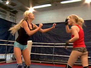 Lezzie Joy Among Sparring Fucking partners