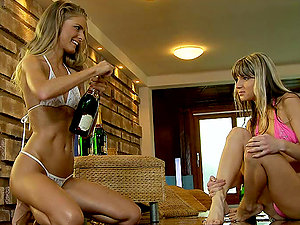 Smoking hot blondie vixens are having a real hot lezzy fucky-fucky