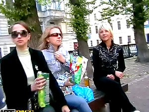 Beautiful Long-Haired Russian Chicks Thinking Only in Romp