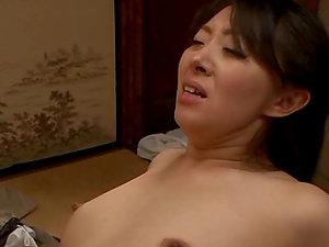 Asian Wifey Aya Kitagawa Takes a Dual Fucking in Threesome