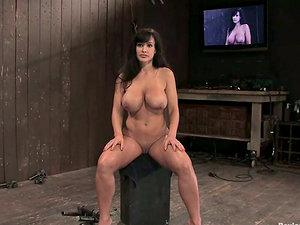 Buxomy Mummy Lisa Ann Getting Predominance and Restrain bondage with Frolicking and Torment