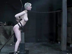 Sexy Cherry Ripped gets chained and ball-gagged in hot vid