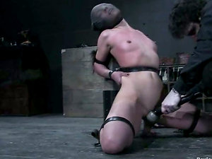 Frog-tie restrain bondage and ball gag is what Circe dreamed