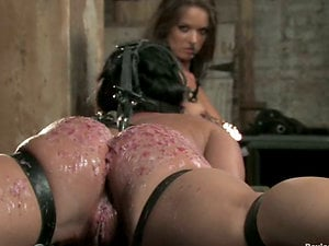 A little girl/girl erotic cracks during this Sadism & masochism session