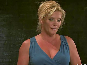 Mature lady Ginger Lynn is getting manhandled like in good old times