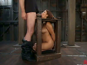 Exotic Honey Jazmine Leih Getting Fucked in Restrain bondage and Predominance Session