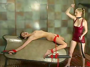 Eva Lux gets whipped, tantalized and loves hot paraffin wax on her belly
