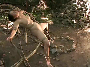 Sista Dee gets tormented in a forest and likes it very much