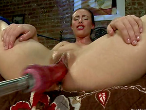 Casey Calvert gets toyed in both crevices at once by a machine