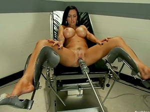 Jenna Presley the dark haired with big faux tits gets toyed