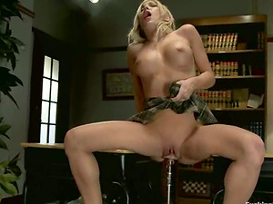 Amy Brooke gets her bum and beaver opened up to the limit