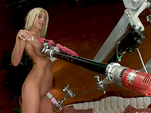 Puma Swede gets her snatch drilled by a fucking machine