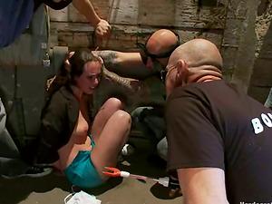 Rough Act in Group sex for Dark-haired Casey Calvert