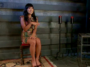 A kinky Asian chick gets tormented by three domineering mummies