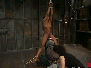 Stacey Cash takes a rail on a fucking machine in a hot Sadism & masochism scene