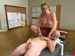 Princess Kali penalizes her professor Top James in a classroom