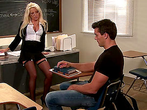 Ramon Fucks His Sexy Blonde Professor After Class