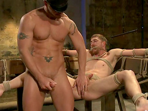 Dayton O'Connor gets roped and fucked hard by Jeremy Stevens