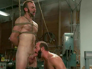 Clayton Kent gets strapped, tormented and fucked by Josh West