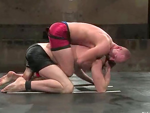 Cole Streets and Patrick Rouge grapple and then suck dicks