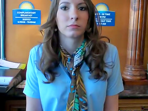 Motel Receptionist Takes Money for Romp with a Big Penis in Reality Vid
