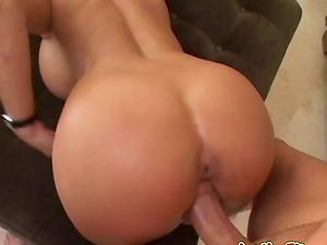 Holly Halston gets her fuckholes drilled and loves jism on her tits