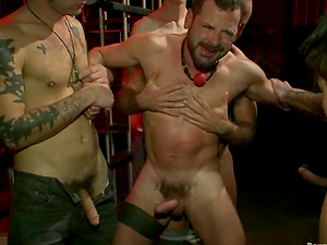 Josh West gets trussed and fucked deep and hard in a jail