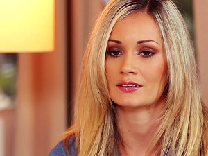 Nice Krissy Hartley fondles her titties in a Playboy vid