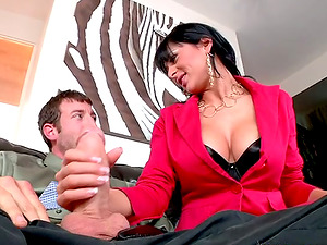 Big tittied Alison Starlet deep throats two dicks and gets pounded