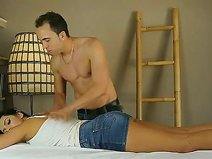 Kira Queen Gets Her Flawless Assets Massaged Before Hard-core Bang-out