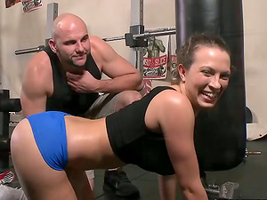 Magnificent Lily Love gets fucked by a muscular sport instructor
