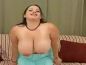 Fat Devyn gives a tit-fucking and gets fucked from behind