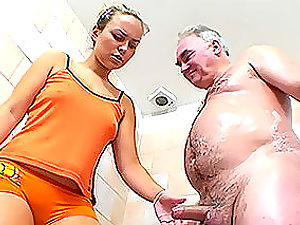 Petite Dicked Old Man Is Lucky Enough To Fuck and Facialize a Hot Blonde