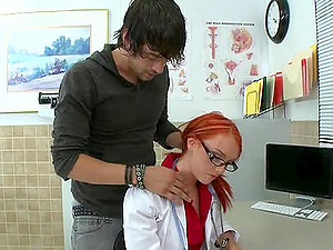 Sandy-haired Doc Special Treatment Deep throat and Nurse Fuck