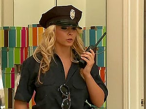 Officer Ivy Rails A Hard Man sausage Until Her Face Gets Covered By Hot Spunk