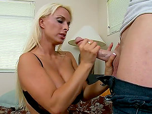 Chesty Blonde Mummy Holly Halston Claiming Back Her Stolen Orgasm