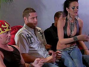 Rock Chick Loves To Be Group-fucked