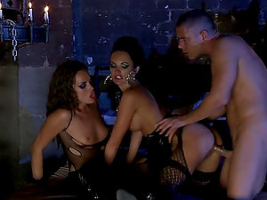 Tori Black and Alektra Blue Threesome Act