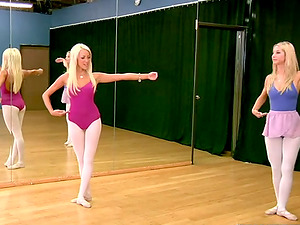 Three sexy ballerinas finger fuckboxes and bums