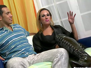 Fucking and Jerking Off Milena Ninfeta's Asshole and Penis